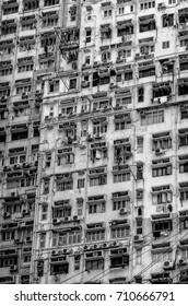 Hong Kong apartment building along Victoria Harbor
