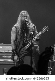 HONG KONG - April 12, 2017: American rock/heavy metal supergroup Generation Axe, Guitarist Zakk Wylde performed on stage
