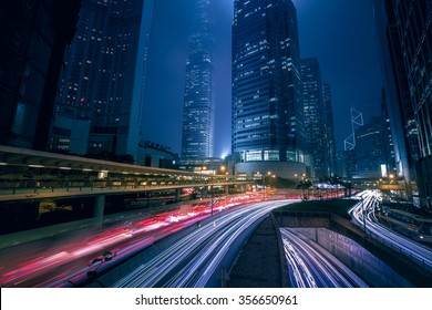 Hong Kong Central District night scenes 2015