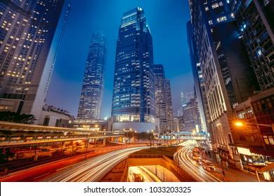 Hong Kong Central Night Scenes