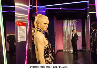 Hong Kong, China, 12 February 2018 :  Wax work view of famous people in Madame Tussauds