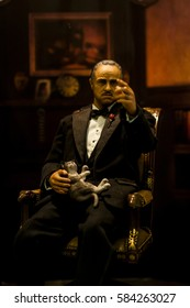 Hong Kong, China - 13 June, 2009: Wax figure of the Godfather at Madame Tussauds on Victoria Peak