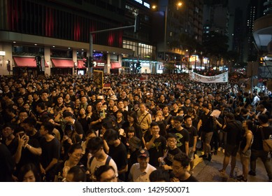 Hong Kong China, 16 June 2019, Hong Kong protest 'largest in 30 years'. Nearly two million people have taken part in a mass protest in Hong Kong against a controversial extradition bill