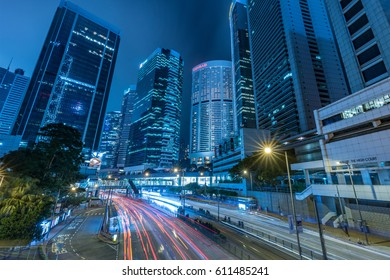 HONG KONG, CHINA - 28 MAR 2017: Busy traffic at Admiralty, Hong Kong.