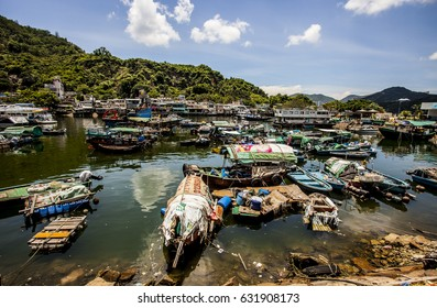 Hong Kong, China - 4 July, 2013: Lei Yue Mun fishing village, a small community in Kowloon with mostly Hakka residents