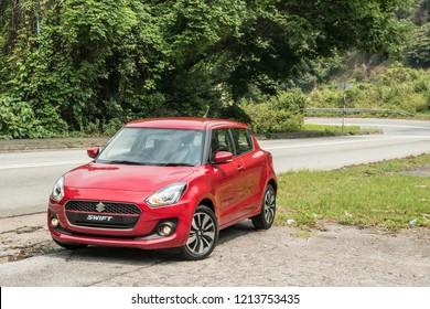 Hong Kong, China April 18, 2018 : Suzuki Swift 2018 Test Drive Day April 18 2018 in Hong Kong.