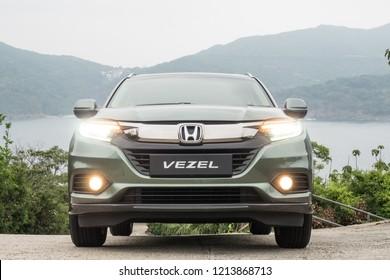Hong Kong, China April 26, 2018 : Honda Vezel 2018 Test Drive Day April 26 2018 in Hong Kong.