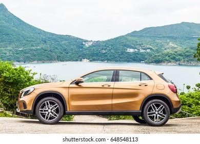 Hong Kong, China April 28, 2017 : Mercedes-Benz GLA 200 2017 Test Drive Day on April 28 2017 in Hong Kong.