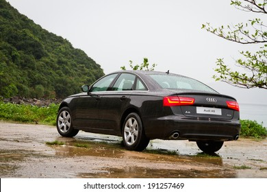 Hong Kong, China April 30, 2013 : Audi A6 Sedan Car test drive on April 30 2013 in Hong Kong.