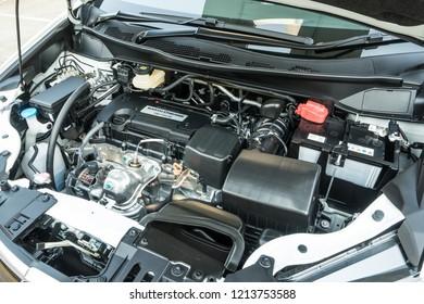 Hong Kong, China April 4, 2018 : Honda Odyssey 2018 Engine April 4 2018 in Hong Kong.