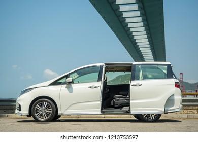 Hong Kong, China April 4, 2018 : Honda Odyssey 2018 Test Drive Day April 4 2018 in Hong Kong.