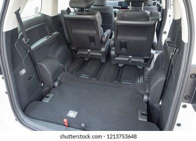 Hong Kong, China April 4, 2018 : Honda Odyssey 2018 Trunk April 4 2018 in Hong Kong.