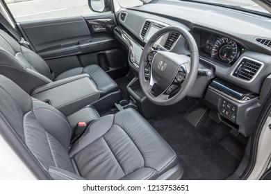 Hong Kong, China April 4, 2018 : Honda Odyssey 2018 Interior April 4 2018 in Hong Kong.