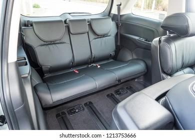 Hong Kong, China April 4, 2018 : Honda Odyssey 2018 Rear Seat April 4 2018 in Hong Kong.