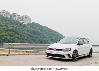 Hong Kong, China Aug 1, 2016 : Volkswagen Golf ClubSport 2016 Test Drive Day on Aug 1 2016 in Hong Kong.