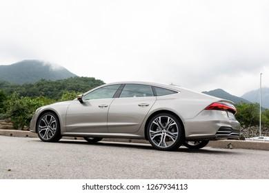 Hong Kong, China Aug 15, 2018 : Audi A7 Sportback 2018 Test Drive Day Aug 15 2018 in Hong Kong.