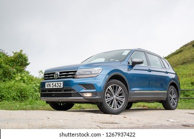 Hong Kong, China Aug 15, 2018 : Volkswagen Tiguan 2018 Test Drive Day Aug 15 2018 in Hong Kong.