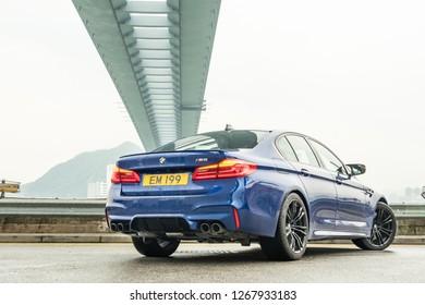 Hong Kong, China Aug 23, 2018 : BMW M5 2018 Test Drive Day Aug 23 2018 in Hong Kong.