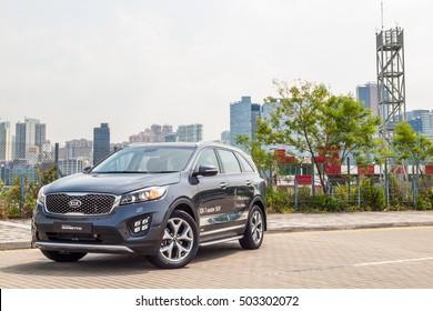 Hong Kong, China Aug 8, 2016 : KIA Sorento Diesel Drive Day on Aug 8 2016 in Hong Kong.