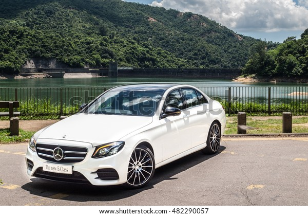 Hong Kong, China Aug 9, 2016 : Mercedes-Benz E 200 2016 Test Drive Day on Aug 9 2016 in Hong Kong.