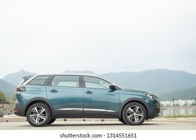 Hong Kong, China Dec 21, 2018 : Peugeot 5008 2018 Test Drive Day Test Drive Day Dec 21 2018 in Hong Kong.
