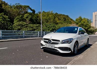 Hong Kong, China Dec 29, 2017 : Mercedes-Benz CLA Shooting Brake Dec 29 2017 in Hong Kong.