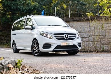 Hong Kong, China Feb 12, 2018 : Mercedes-Benz V-Class 2018 Test Drive Day Feb 12 2018 in Hong Kong.