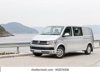 Hong Kong, China Feb 23, 2016 : Volkswagen Transporter 2016 on Feb 23 2016 in Hong Kong.