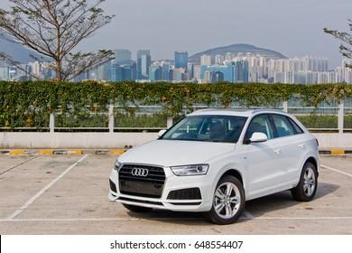Hong Kong, China Feb 27, 2017 : Audi Q3 30 TFSI 2017 Test Drive Day on Feb 27 2017 in Hong Kong.