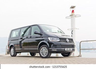 Hong Kong, China Feb 5, 2018 : Volkswagen Transporter T6 2018 Test Drive Day Feb 5 2018 in Hong Kong.