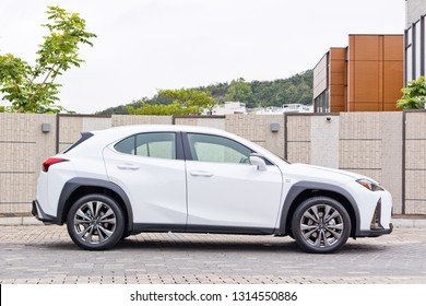 Hong Kong, China Jan 1, 2019 : Lexus UX 200 2018 Test Drive Day Jan 1 2019 in Hong Kong.