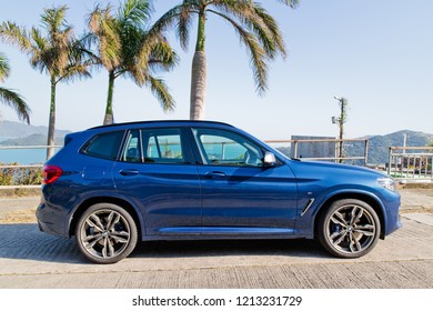 Hong Kong, China Jan 11, 2018 : BMW X3 M40i 2018 Test Drive Day Jan 11 2018 in Hong Kong.