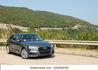 Hong Kong, China Jan 23, 2019 : Audi A3 Sportback 2019 Test Drive Day Jan 23 2019 in Hong Kong.