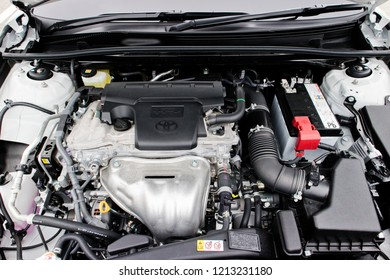 Hong Kong, China Jan 26, 2018 : Toyota Camry 2018 Engine Jan 26 2018 in Hong Kong.