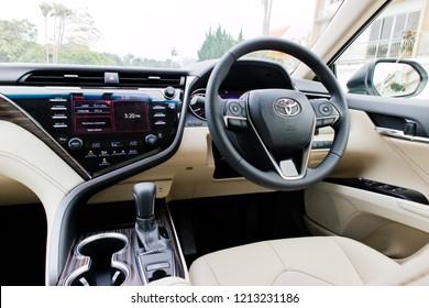 Hong Kong, China Jan 26, 2018 : Toyota Camry 2018 Wheel Jan 26 2018 in Hong Kong.