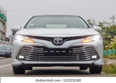 Hong Kong, China Jan 26, 2018 : Toyota Camry 2018 Test Drive Day Jan 26 2018 in Hong Kong.