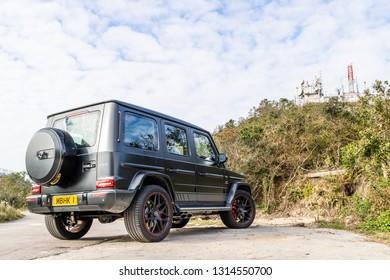 Hong Kong, China Jan 28, 2019 : Mercedes-AMG G 63 2019 Test Drive Day Jan 28 2019 in Hong Kong.