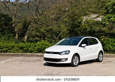 Hong Kong, China Jan 3, 2014 : Volkswagen Polo 2014 Model test drive on March 3 2014 in Hong Kong.