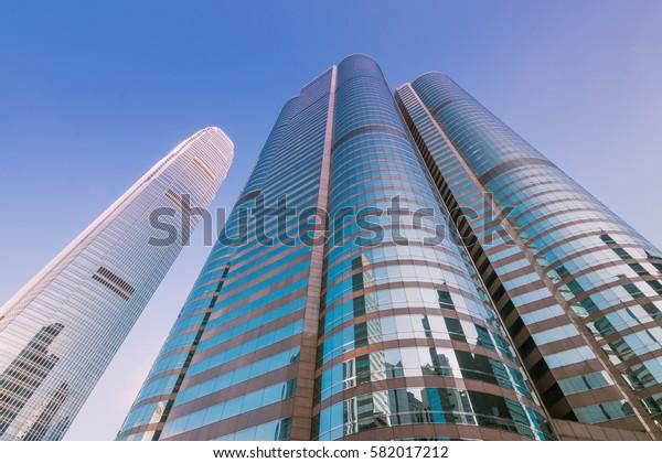 HONG KONG, CHINA - JAN 3: City of modern architecture on Jan 3, 2017 in Hong Kong, hong kong is International metropolis.