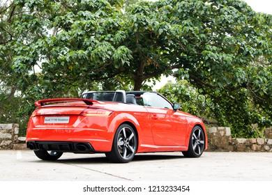 Hong Kong, China Jan 4, 2018 : Audi TTRS Jan 4 2018 in Hong Kong.