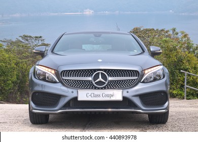 Hong Kong, China Jan 4, 2016 : Mercedes-Benz C-Class Coupe 2016 Test Drive Day on Jan 4 2016 in Hong Kong.