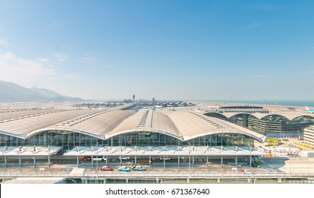 HONG KONG, CHINA - JAN 4:Hong Kong International Airport on Jan 4, 2017 in Hong Kong, This is one of the busiest airports in the world.