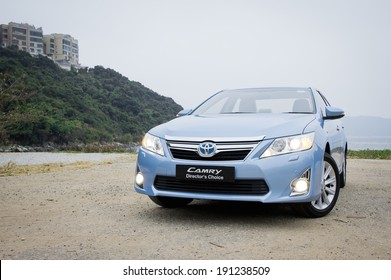 Hong Kong, China Jan 5, 2012 : Toyota Camry Hybrid test drive on Jan 5 2012 in Hong Kong.