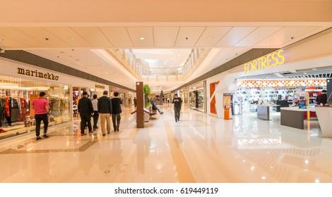 HONG KONG, CHINA - JAN 5:Modern shopping mall on Jan 5, 2017 in Hong Kong,