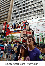 HONG KONG, CHINA - JULY 1: Unidentified Hong Kong citizens participate in the annual July 1 march to demand democracy from the government on July 1, 2012 in Hong Kong, China.