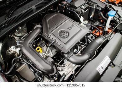 Hong Kong, China July 23, 2018 : Volkswagen Polo 2018 Engine July 23 2018 in Hong Kong.