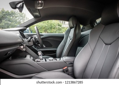 Hong Kong, China July 3, 2018 : Audi R8 2018 Seat July 3 2018 in Hong Kong.