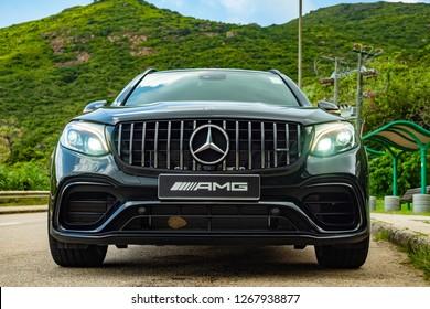 Hong Kong, China July 5, 2018 : Mercedes-Benz GLC 2018 Test Drive Day July 5 2018 in Hong Kong.
