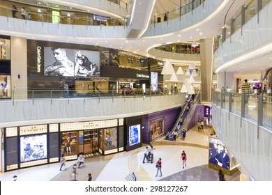 Hong Kong, China - June 2, 2015: MOKO mall in Mong Kok, Hong Kong with more than 200 different brand-name retailers and restaurants over seven floors.