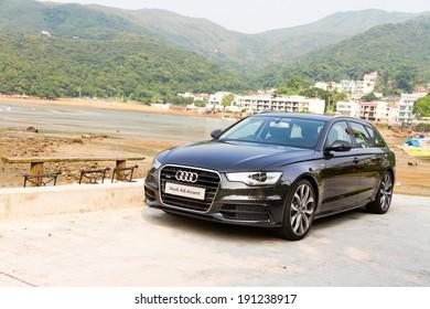 Hong Kong, China June 20, 2012 : Audi A6 Avant test drive on June 20 2012 in Hong Kong.